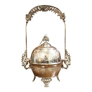 1950s Silver Plated Victorian Style Food Warmer For Sale