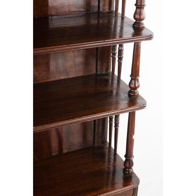 19th Century English Traditional Mahogany 3 Shelf Etagere For Sale - Image 12 of 13