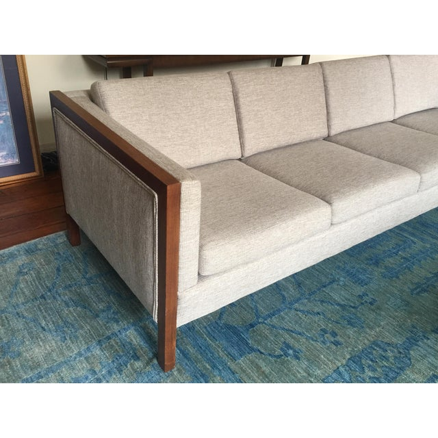Mid-Century Modern Four Seat Long Sofa by Dux For Sale - Image 12 of 13