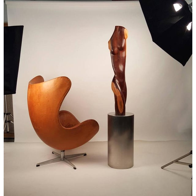 Contemporary Rare Solid Ebony Norman Ridenour Sculpture For Sale - Image 3 of 10