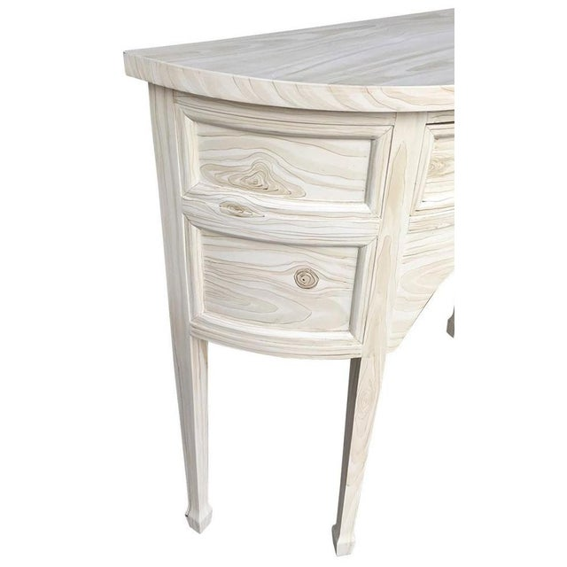 French Single Drawer Demi-Lune Table For Sale In New York - Image 6 of 7