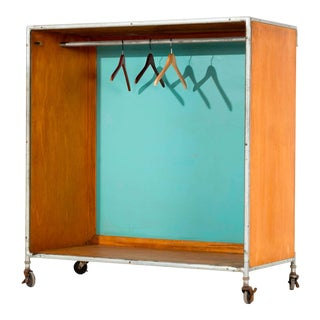 Henry P. Glass Rolling Closet For Sale