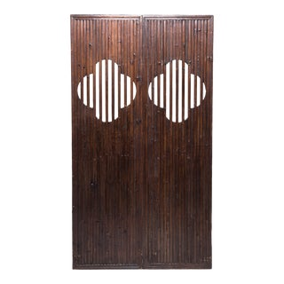Pair of Chinese Quatrefoil Door Panels For Sale