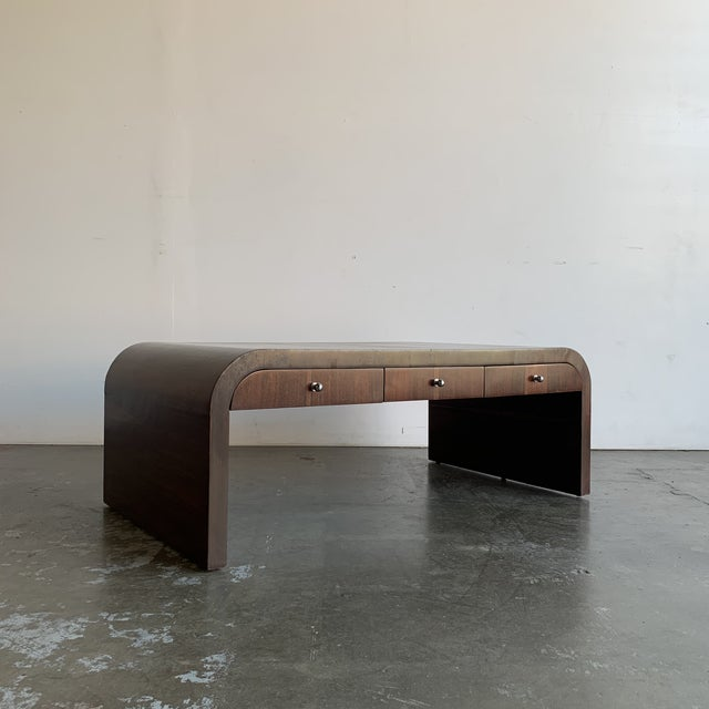 1980s Low Profile Art Deco Coffee Table For Sale - Image 5 of 13