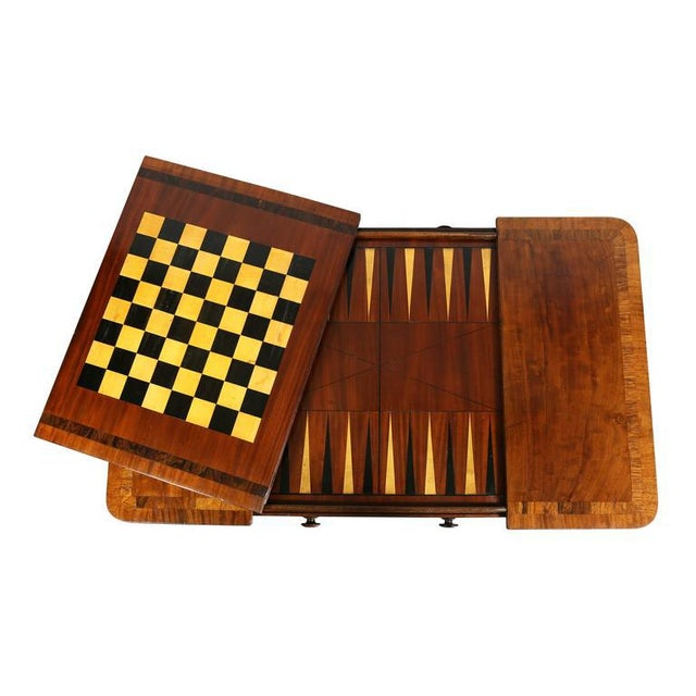 Traditional Unusual Regency Mahogany Games Table For Sale - Image 3 of 10