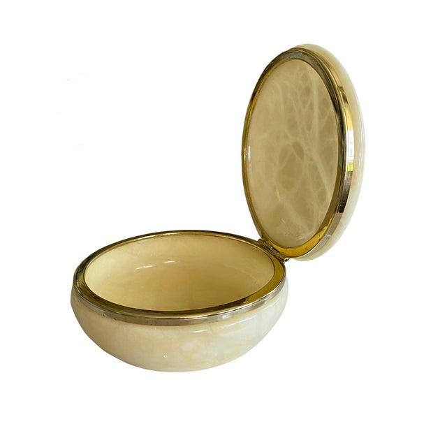 Italian Mid Century Italian Alabaster Box For Sale - Image 3 of 6