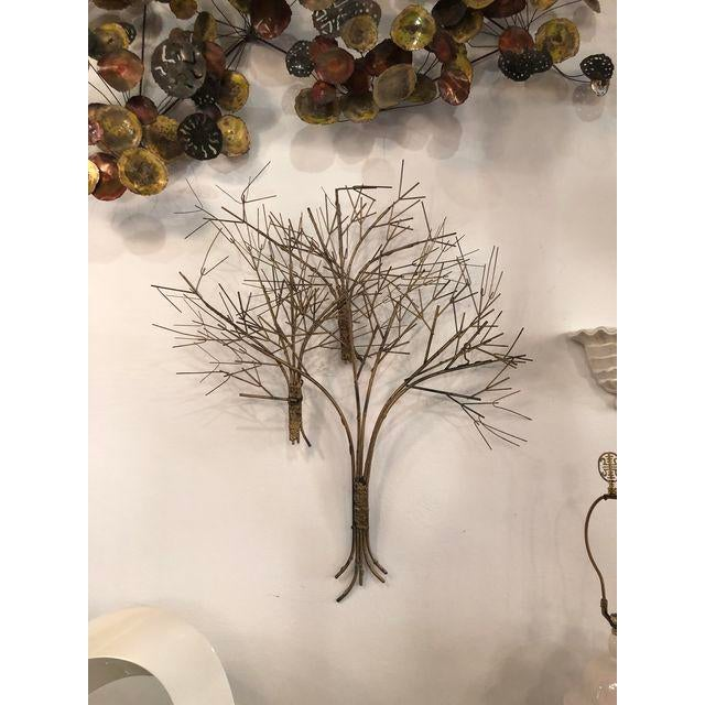 1950s Vintage Metal Tree Wall Art Sculpture For Sale - Image 5 of 11