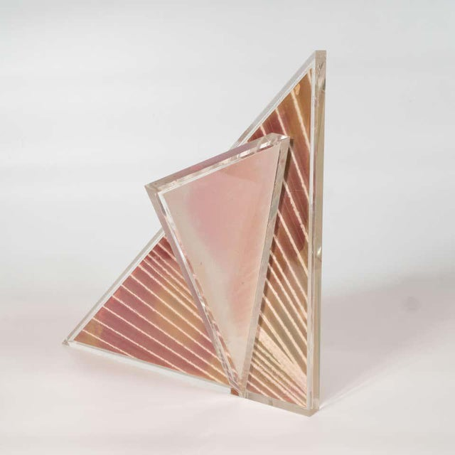 Mid-Century Modern Polychromatic Cast Acrylic Sculpture by Norman Mercer For Sale - Image 10 of 12