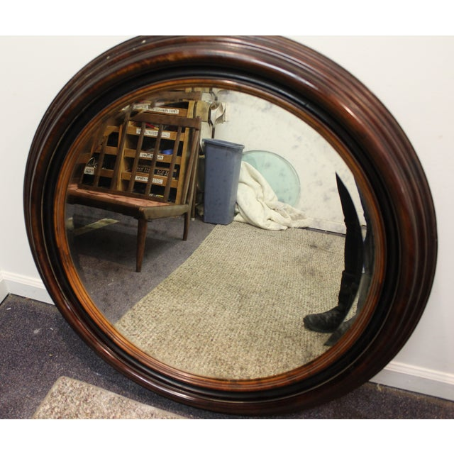 Antique Round Wall Mirror - Image 3 of 7