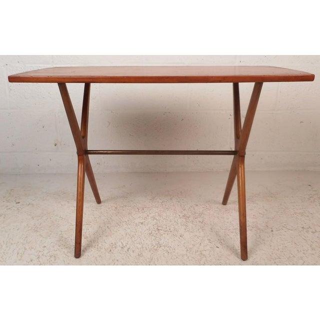 Mid-Century Modern Teak End Table - Image 4 of 11