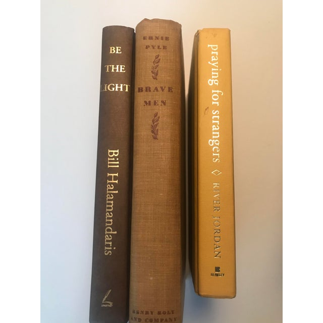 Gold 20th Century Americana Rich Gold and Brown Book Bundle - Set of 6 For Sale - Image 8 of 12