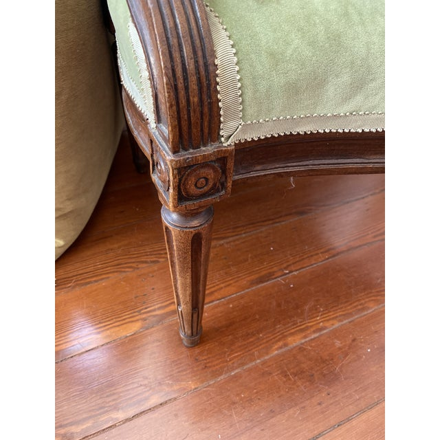 18th Century Arched Back French Fauteuils - a Pair For Sale - Image 4 of 6