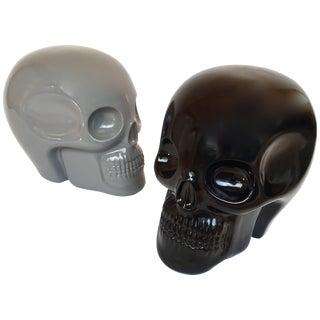 Stool Skull in Grey Ceramic by Antonio Cagianelli, Contemporary For Sale