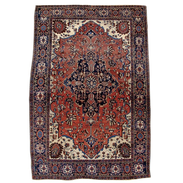 19th Century Fereghan Sarouk Rug For Sale