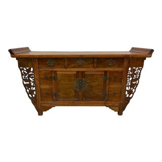 Antique Chinese Wooden Altar Cabinet For Sale
