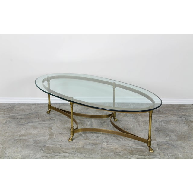 Mid Century Labarge Brass Coffee Table, Brass Coffee Table For Sale - Image 9 of 12