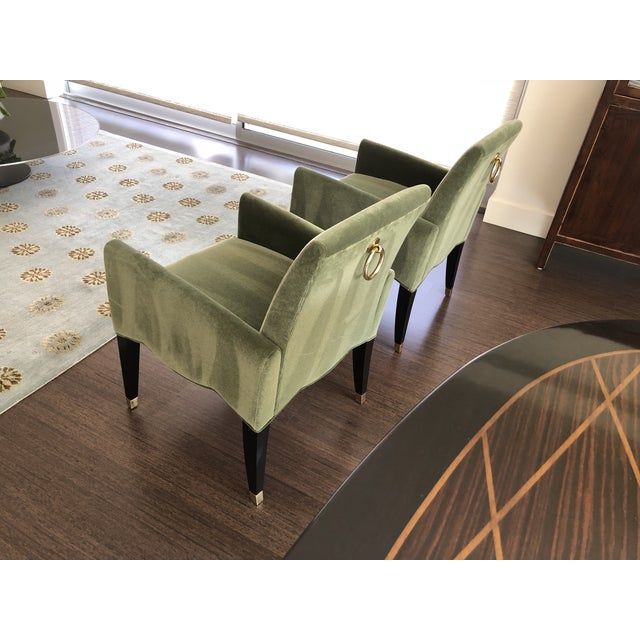 Green Artelano Cafe Marly Arm Chairs - A Pair For Sale - Image 4 of 5