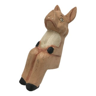 Wooden Pig Bookend For Sale
