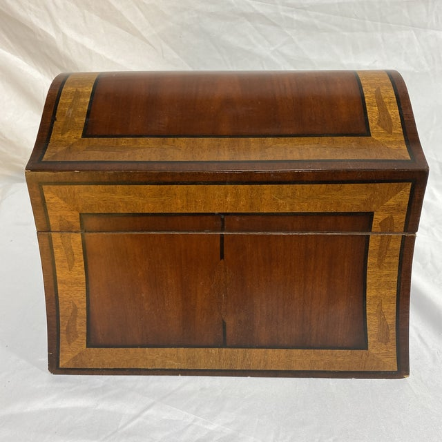 Maitland-Smith Inlaid Mahogany Box For Sale - Image 13 of 13
