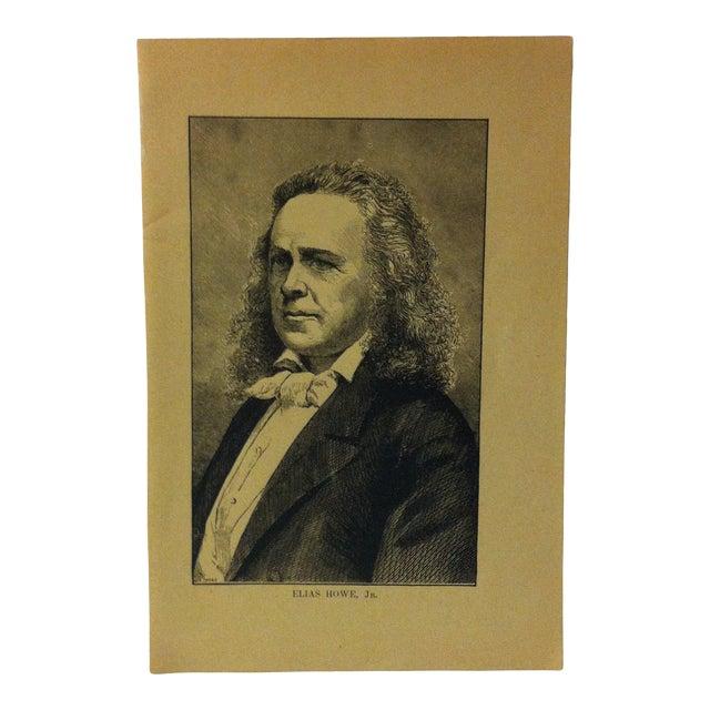 "1880 ""Elias Howe Jr."" Successful Self-Made Men Print on Paper For Sale"