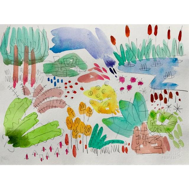 "Steve Klinkel English Garden, Set of Four Original Watercolor Paintings 11x15"" Each For Sale - Image 4 of 6"