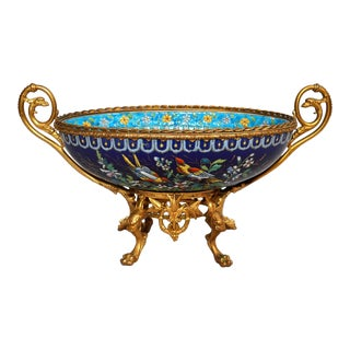 Antique French Majolica Longwy Pottery Jardiniere circa 1890-1900