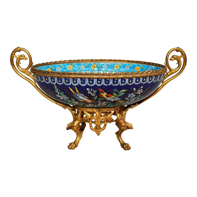 Antique French Majolica Longwy Pottery Jardiniere circa 1890-1900 For Sale
