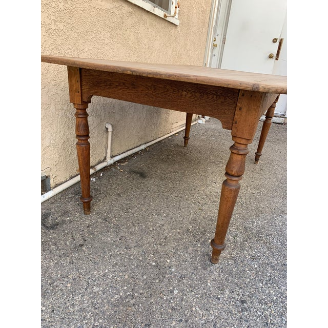 French Authentic Antique French Farm Table For Sale - Image 3 of 7