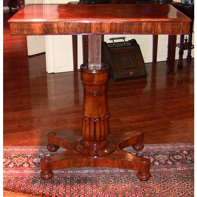 19th Century British William IV Telescopic Side Table in the Manner of Gillow's For Sale - Image 11 of 12