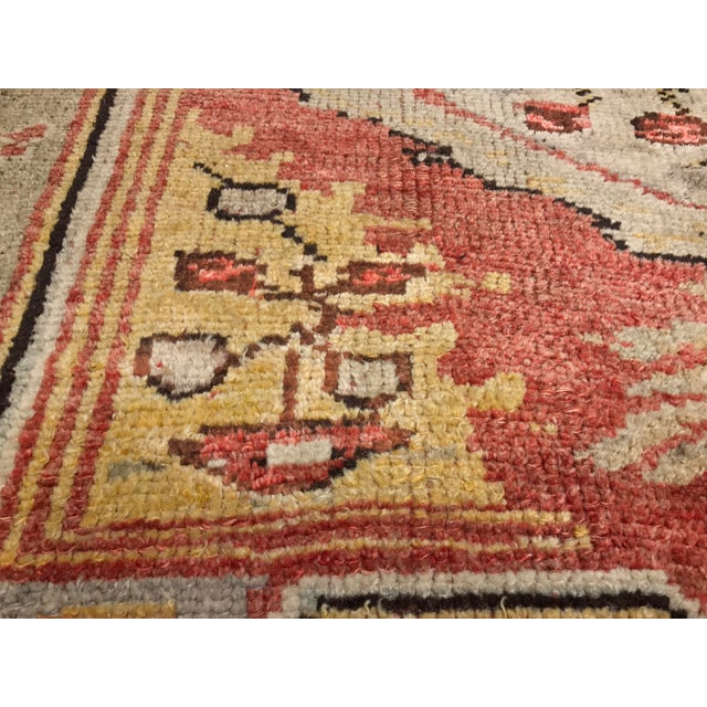 "Bellwether Rug Vintage Turkish Oushak Small Area Rug- 4'2""x5'4"" - Image 10 of 10"
