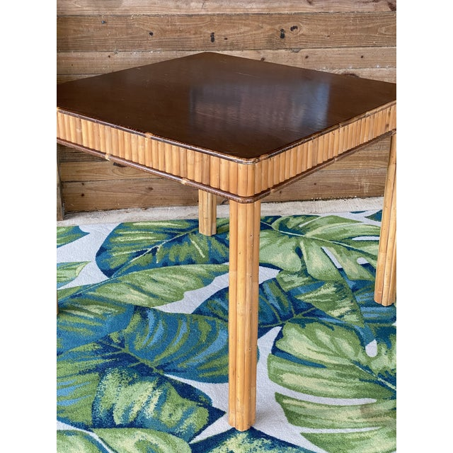 Vintage Split Bamboo Table For Sale - Image 9 of 13