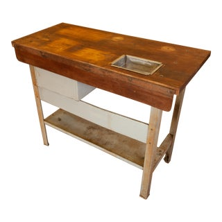 1950s Industrial Old Levin Table For Sale