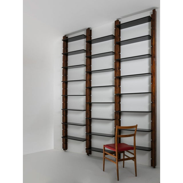 Gold Italian 60s Modular Bookcase For Sale - Image 8 of 9