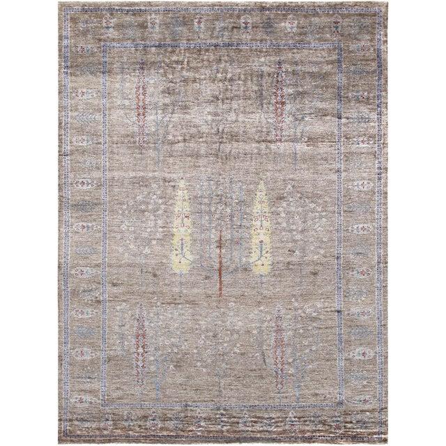 "Pasargad Gabbeh Bamboo Silk Area Rug - 5' 7"" X 7' 9"" For Sale"