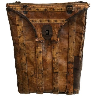 "19th Century Swedish Birchwood ""Back Pack"" For Sale"