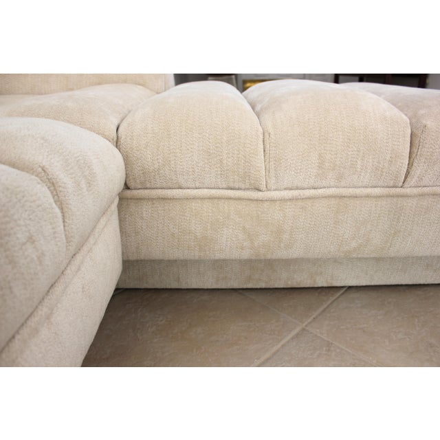 Tan Vladimir Kagan Attributed Directional Sectional Sofa For Sale - Image 8 of 13