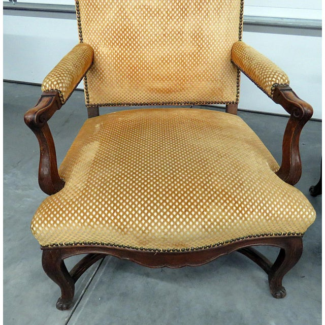 Pair of Country French Arm Chairs For Sale - Image 4 of 8