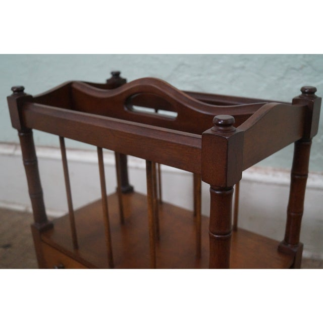 Schott Furniture Solid Mahogany Magazine Stand - Image 9 of 10