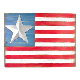 Rustic Wood American Flag Wall Art For Sale