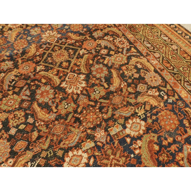 Blue 1900 Antique Persian Fereghan Rug For Sale - Image 8 of 13