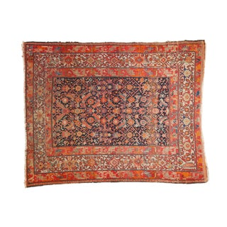"Antique Malayer Square Rug - 4'10"" X 6'1"" For Sale"