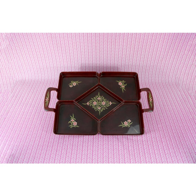 Asian Vintage Maruni Lacquerware Tray For Sale - Image 3 of 10