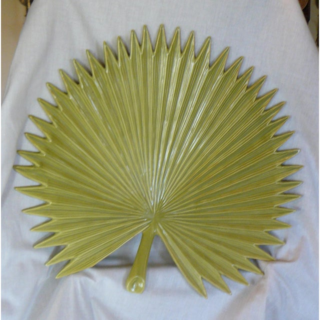 Large and Useful! A Global Views, Palm-shaped, footed serving platter. Excellent, like-new condition. Ready to be put into...