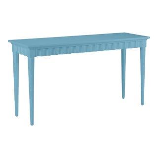Casa Cosima Flutter Console, Colonial Blue For Sale