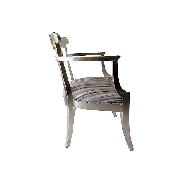 1950's Baker Silver Leaf Klismos Chair - Image 2 of 8