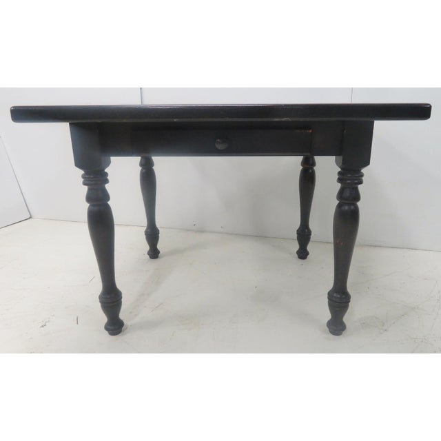 Country Paint Distressed Farm Table For Sale - Image 5 of 8