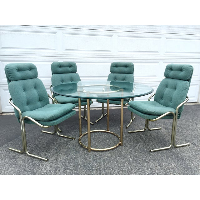 Blue Jerry Johnson Style Dining Chairs - Set of 4 - Image 8 of 8