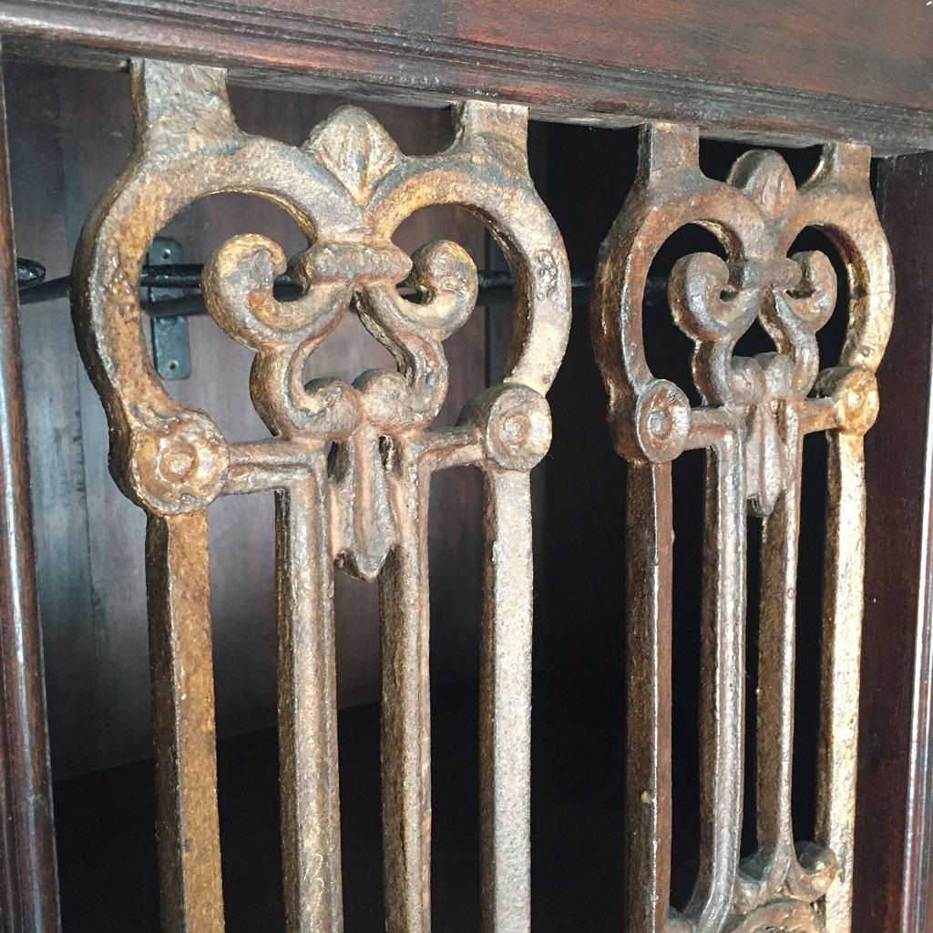 Indian Wood u0026 Iron Wine Cabinet W/Shelf - Image 4 ... & Indian Wood u0026 Iron Wine Cabinet W/Shelf | Chairish