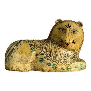 1960s Gemma Taccogna Paper Mache Lion Sculpture