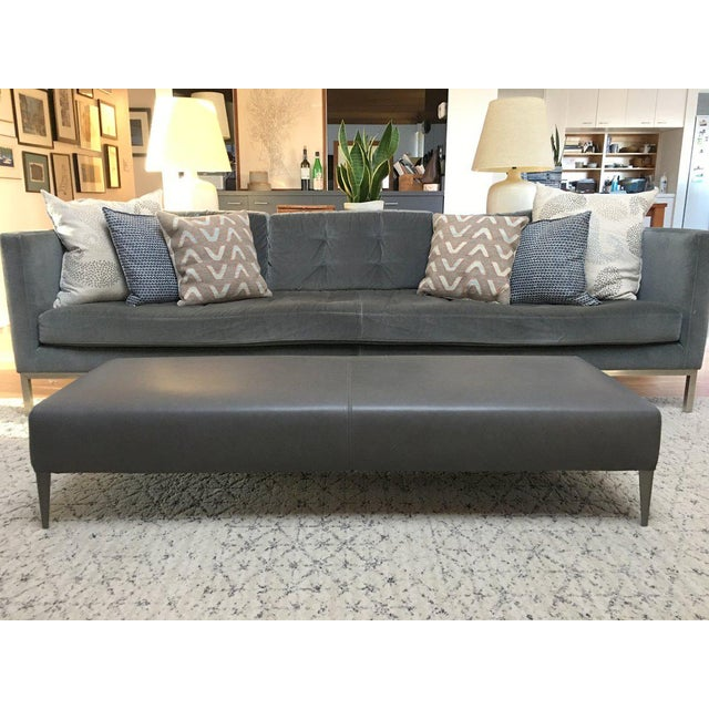 B & B Italia Italian Modern Leather Bench For Sale In New York - Image 6 of 10